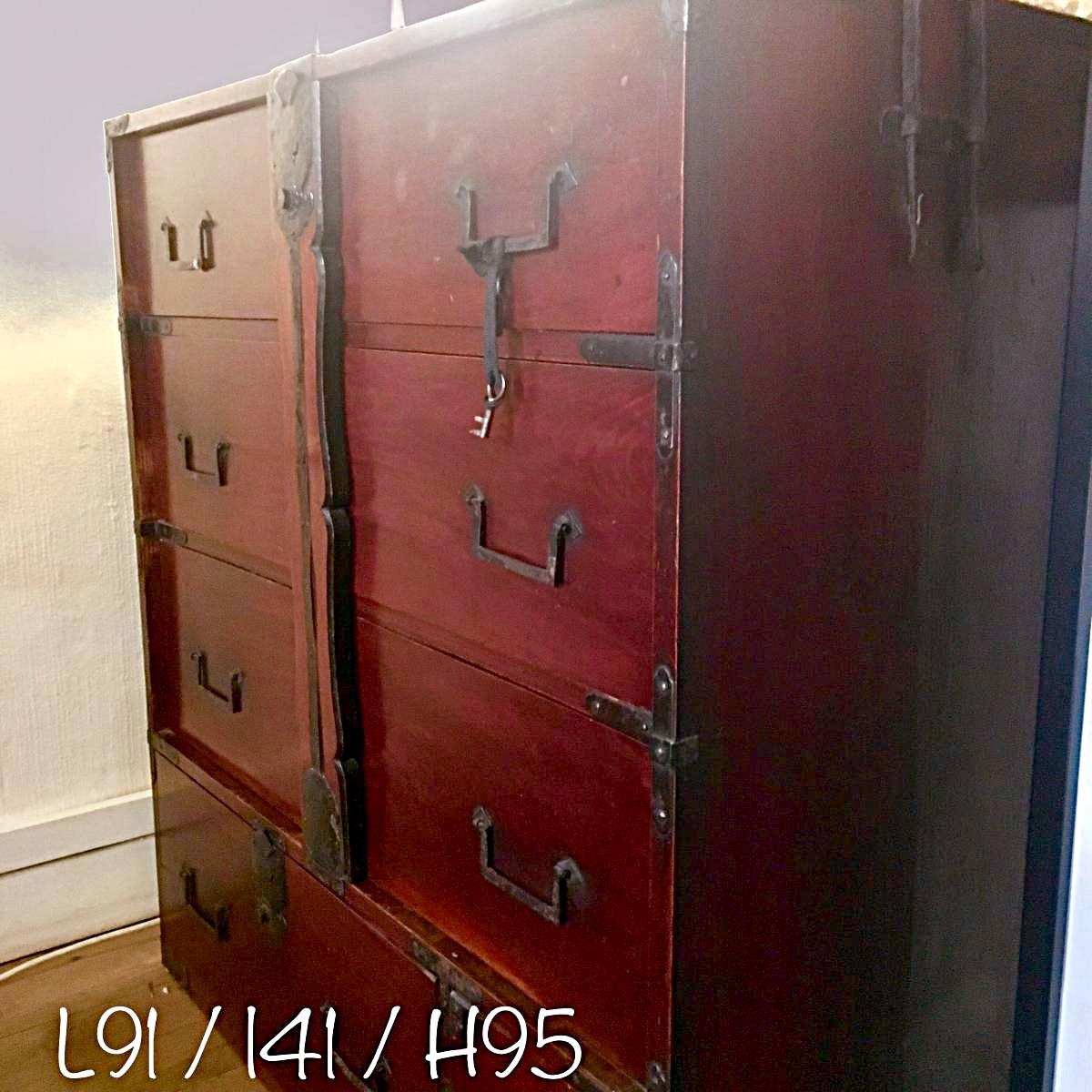 Meuble japonais ancien good meuble laqu rouge noir de for Meuble japonais ancien